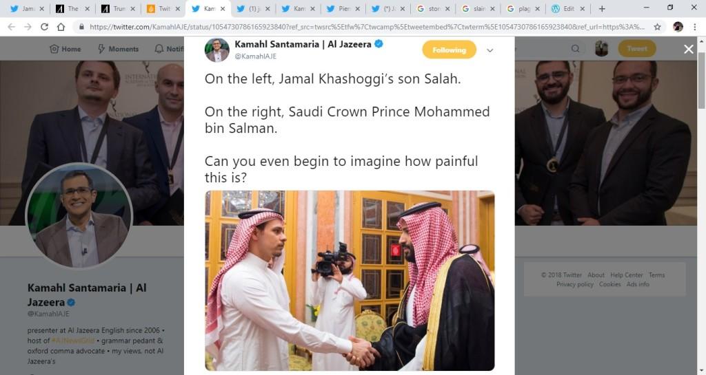 Jamal Khashoggi's Son meets Saudi Crown Prince